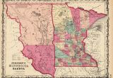 Dakota Minnesota and Eastern Railroad Map Old Historical City County and State Maps Of Minnesota