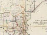 Dakota Minnesota and Eastern Railroad Map Old Historical City County and State Maps Of Minnesota