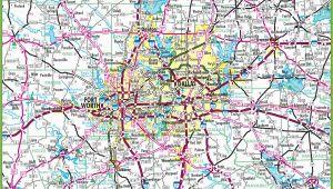 Dallas Texas Road Map Dallas area Road Map