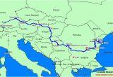 Danube River Map Europe Uvod Layout 1