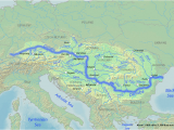 Danube River On Map Of Europe River Danube Map Map Of West