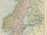 Denmark On Map Of Europe Historical Maps Of Scandinavia