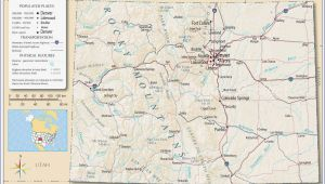 Denver City Texas Map Colorado Map with Counties and Cities Secretmuseum