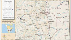 Denver Colorado Map Usa United States Map Showing Colorado Refrence Denver County Map