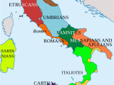 Detail Map Of Italy Italy In 400 Bc Roman Maps Italy History Roman Empire Italy Map