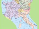 Detailed Map Of Italy Cities Map Of Switzerland Italy Germany and France