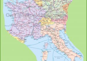 Detailed Map Of Italy with Cities and towns Regions Of Italy E E Map on