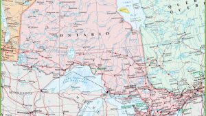 Detailed Map Of Ontario Canada Map Of Ontario with Cities and towns
