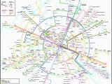 Detailed Map Of Paris France Paris Metro Map Subway System Maps In 2019 Paris Metro