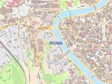 Detailed Map Of Rome Italy Roma City Map Laminated Wall Map Of Rome Italy