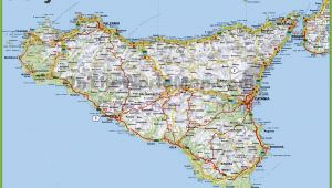 Detailed Map Of Sicily Italy Map Of Sicily Italy D1softball Net