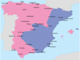 Detailed Map Of Spain with Cities Spanish Civil War Wikipedia