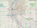 Detailed Road Map Of Colorado Large Detailed Street Map Of Denver