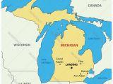 Detroit Michigan Map Usa Michigan Map Royalty Free Vector Image Vectorstock