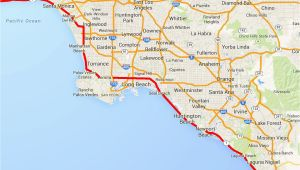 Downey California Map Map to Los Angeles California Driving the Pacific Coast Highway In