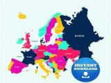 Downloadable Map Of Europe Map Of Europe Unlabeled Climatejourney org