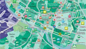 Downtown Austin Texas Map Downtown Austin Tx Downtown Austin Neighborhood Map Maps Of