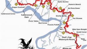 Dragon Tail Tennessee Map the Dragon Tennessee todmap 267×300 the Tail Of the Dragon Tail