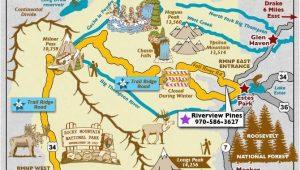 Drake Colorado Map Trail Ridge Road Scenic byway Map Colorado Vacation Directory