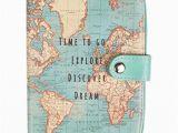 Dream Stream Colorado Map Sass Belle Vintage World Map Passport Holder Amazon Co Uk