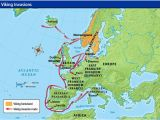 Dublin Europe Map Viking Invasion Routes Viking Invasion Routes History