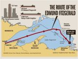 Duluth Michigan Map 41 Years Ago Edmund Fitzgerald Sank In Lake Superior Great Lakes