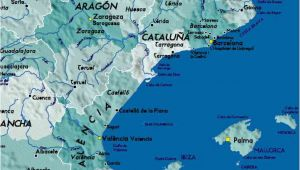 East Spain Map Detailed Map Of East Coast Of Spain Twitterleesclub