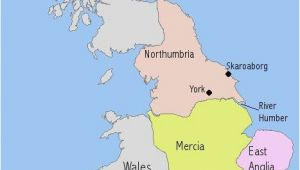 Eastern England Map A Map I Drew to Illsutrate the Make Up Of Anglo Saxon England In