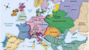 Easy Map Of Europe 442referencemaps Maps Historical Maps World History