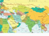 Easy Map Of Europe Eastern Europe and Middle East Partial Europe Middle East