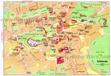 Edinburgh England Map Map Of Edinburgh attractions Planetware Printable Travel