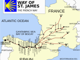 El Camino Spain Map French Way Wikipedia