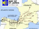 El Camino Trail Spain Map French Way Wikipedia