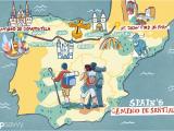 El Camino Trail Spain Map Spain S Camino De Santiago How Long the Trip Takes