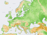 Elevation Map Of Europe atlas Of Europe Wikimedia Commons