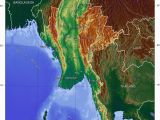 Elevation Map Of France topographic Map Of Myanmar P1 Burma Campaign Singapore Travel