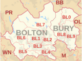 England Districts Map Bl Postcode area Wikipedia
