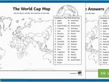 England Football Map the World Cup Map Worksheet the World Cup Map Worksheet