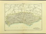 England Map Brighton Antique Sussex Map Of Sussex County England United Kingdom Brighton