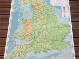 England On A World Map England and Wales Physical Map Philips by Wafflesandsprout
