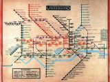 England Underground Map Harry Beck 1902 1974 British First 1931 Version Of His Iconic