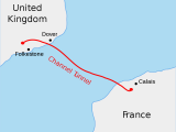 English Channel On Europe Map Channel Tunnel Wikipedia