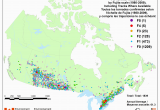 Environment Canada Weather Maps Canadian National tornado Database Verified events 1980
