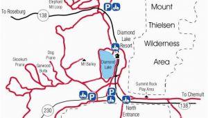 Estacada oregon Map Diamond Lake Map Snowmobiles Diamond Lake oregon Vacation