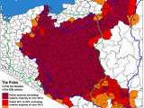 Ethnic Map Of Europe 1914 A Map Of Ethnic Poles In the Early 20th Century Maps