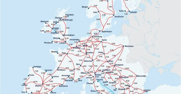 Eurail France Map European Railway Map Europe Interrail Map Train Map Interrail