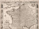 Europe 17th Century Map Vintage Map Of France Europe 17th Century Fine Art Reproduction Mp013