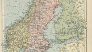 Europe and Scandinavia Map Historical Maps Of Scandinavia