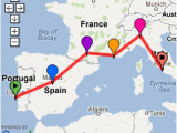 Europe Backpacking Map Possible southern Europe Trip 2 Weeks Lisbon Madrid
