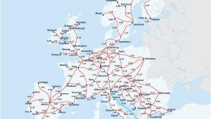 Europe by Train Map European Railway Map Europe Interrail Map Train Map